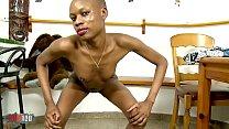 Ebony slut, Bianka Blacka ,stripping alone on her webcam