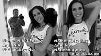 Real Life TWINs Fuck Rocco's XXL Cock - Kitty Fox and Nikki Fox 6 min