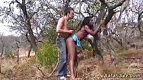 skinny african bdsm safari girl fucked