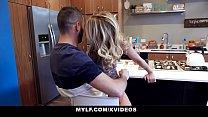 MYLF - Big Dick Stepson Cums All Over Hot Cougar Stepmom (Prestyn Lee)