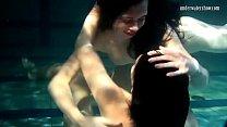 Siskina and Polcharova are underwater gymnasts