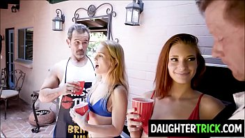 Daughters fucked by fathers at BBQ