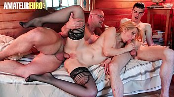AMATEUR EURO - Eager Louise Du Lac Gets Fucked By Two Passionate Guys
