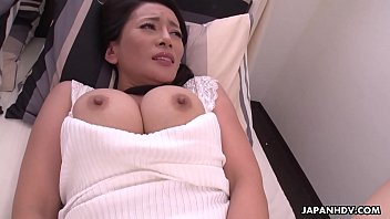 Japanese mature brunette, Rei Kitajima is masturbating all day, uncensored