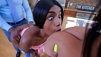 My stepmom found out I was touching her new bf - black porn