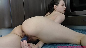 Girl fucking her hairy cunt with a toy and fingers