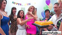 Samantha celebrates her birthday with a wild crazy orgy