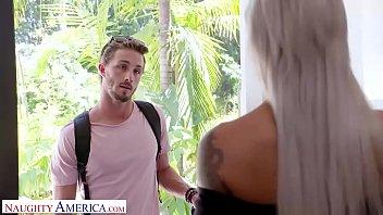 Naughty America Nicole McKenna (Nina Elle) fucks her son's big cocked friend