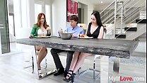 MILF loves her DAUGHTER's taste in men- Dani Jensen 8 min