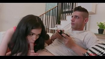 Gamer BROTHER doesn't care about SISTER's PUSSY- Nikki Venom