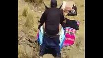 Pillada Cholita cogida en el campo