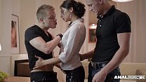 Anal inspectors fill Russian Anita Sparkle's mouth with for loads of cum