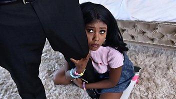 Black babysitter gets caught masturbating - black porn 5 min