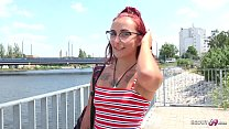GERMAN SCOUT - GINGER TEEN BELLA TALK TO FIRST TIME ANAL AT STREET CASTING FOR MONEY BY BIG DICK STRANGER