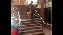 College Boy kissing college girl in LPU