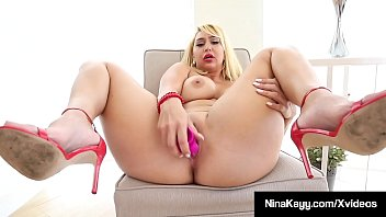Thick Serbian Sex Fiend Nina Kayy Bangs Her Big Box In Heels
