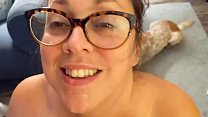 Surprise Video - Big Tit Nerd MILF Wife Fucks with a Blowjob and Cumshot Homemade