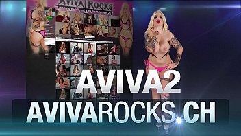 Aviva Rocks - masturbating in school girl dress and playing with a teddybear