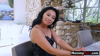 Cool asian step mom fucks her hung son
