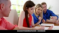 DaughterSwap - Horny Daughters (Abby Adams) (Grae Stroke) Suck Off Hot Stepdads