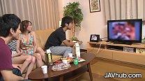 JAVHUB Japanese foursome with Hinata Hyuga and Haruka Sasano