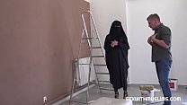 Muslim girl shags with lazy painter
