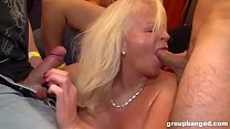 Granny Is a Filthy GangBang Slut