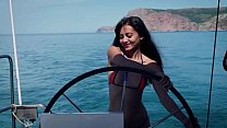 Shrima Malati goes for her first anal sex cruise with her french sex coach Jean-Marie Corda