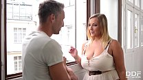Smoking hot babe with big tits Krystal Swift loves his big hard boner 12 min