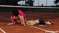 Extreme BBW Pays Facesitting her Tennis Teacher