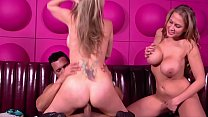 Big Tits MILFs Eve & Ava´s First Threesome to take the big dick in the club