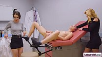 Teen licked by stepmom and her doctor
