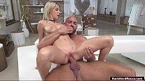 Russian beauty Olivia Sin rides big cock