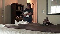 NICHE PARADE - BBW Hotel Maid Strokes Big Black Cock With White Hands 3 min