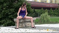 Watch This Babe Piss In Public