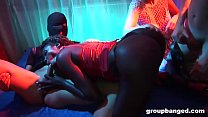 Delicious Ebony Gets GroupBanged with her GF
