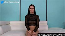 20 year old porn debutant breaks down after facefucking & anal