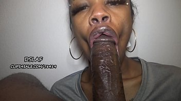 Jamaican Teen With Huge Dick Sucking Lips Gives Sloppy Head- DSLAF