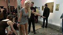 Huge tittied blonde fucked in public