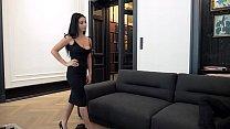 Escort Casting - Dark Hair Big Breast Romanian Nelly Kent Gets Put On Leash 13 min