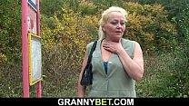 Hairy pussy grandma