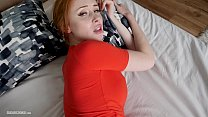 Hot redhead with big boobs makes a homemade amateur porn video