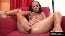 Gina Devine Tugs On Her Labia and Gapes Her Pussy Then Cums