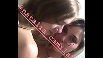 @rociovelizz y @natalia camila2 tocandose, putas ricas de instagram