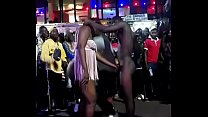 Africa bitch sucking dick in public