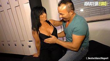 AMATEUR EURO - Romanian Big Ass MILF Gabriela K. Rides Her First German Hard Cock