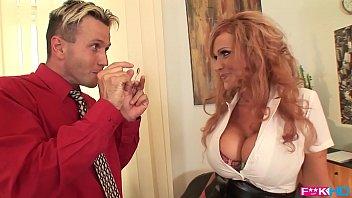 Busty redhead Sharon Pink is a dream secretary that loves titty fucking 13 min