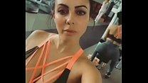 Jimena Sánchez en el gimnasio