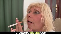 Hot old mature blonde threesome fuck