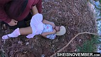 Spread Eagle By Moms Husband And Fucked Missionary On The Forest Grass, Innocent Blonde Ebony Step Daughter Msnovember Cheating With Moms Man, Skirt Pulled Off  Young Ebonypussy Penetrated Kinky Fauxcest on Sheisnovember 6 min